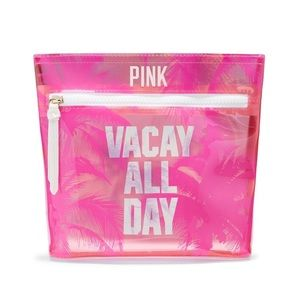 PINK VS Vacay Travel Makeup Cosmetic Bag NWT